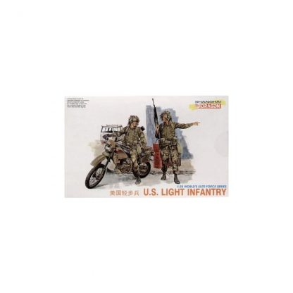 U.S. Light Infantry (2x figures, 1x motor bike)