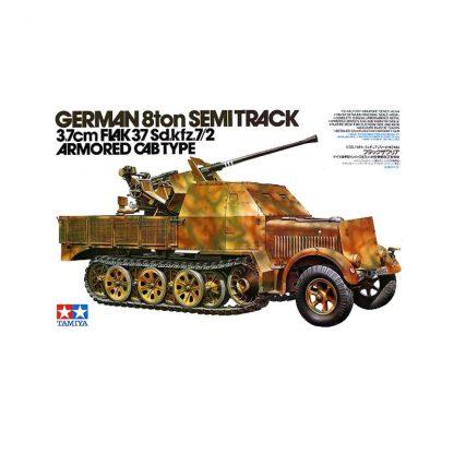 German 8ton Semi Track 3.7 cm FLAK 37 Sd.Kfz.7/2 - Armored cab type