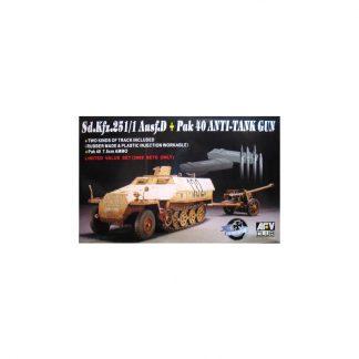 Sd.Kfz.251/1 Ausf.D + Pak 40 Anti-Tank Gun
