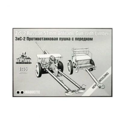 ZiS-2 Russian 57mm Antitank Gun with Limber